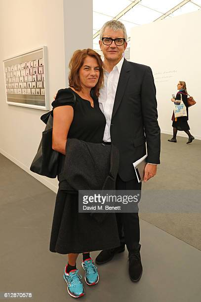Tracey Emin and Jay Jopling attend the VIP private view of the Frieze Art Fair 2016 in Regent's Park on October 5 2016 in London England