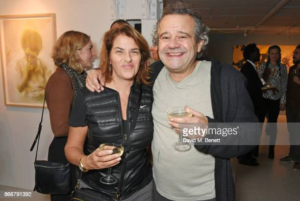 Tracey Emin and Mark Hix attend the Hix Award 2017 at Hix Art The Tramshed on October 26 2017 in London England