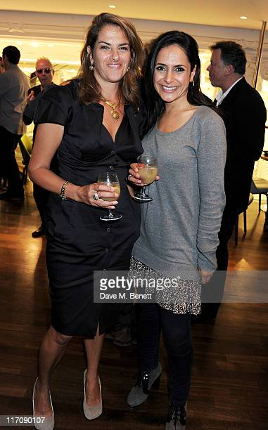 Tracey Emin and Nazaneen Ghaffar attend the launch of Tracey Emin's 'Walking Around My World' a special collaboration with Selfridges for Emin...