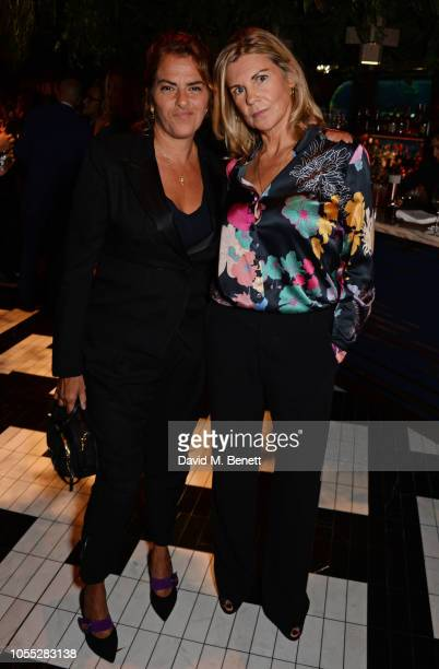 Tracey Emin and Sophie Hastings attend the GQ 30th anniversary party at SUSHISAMBA Covent Garden on October 29 2018 in London England