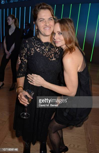 Tracey Emin and Stella McCartney attend the Bloomberg x Vanity Fair Climate Exchange gala dinner 2018 at Bloomberg London on December 11 2018 in...