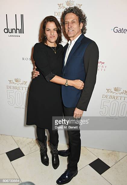 Tracey Emin and Stephen Webster attend Debrett's 500 party hosted at Rosewood London on January 25 2016 in London England Debrett's 500 recognises...