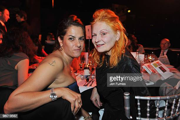 Tracey Emin and Vivienne Westwood attend the ICA fundraising gala at KOKO on March 24 2010 in London England
