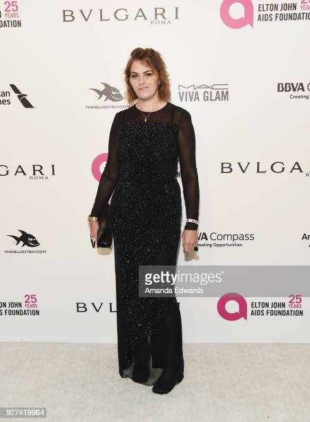 Tracey Emin arrives at the 26th Annual Elton John AIDS Foundation's Academy Awards Viewing Party on March 4 2018 in West Hollywood California