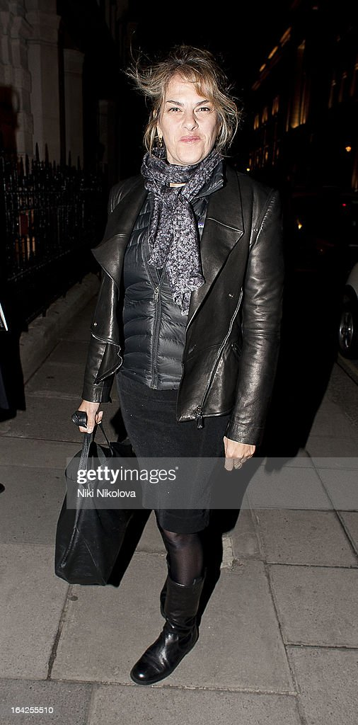 Tracey Emin attending the 30th Anniversary Auction Christie's sighting on March 21, 2013 in London, England.