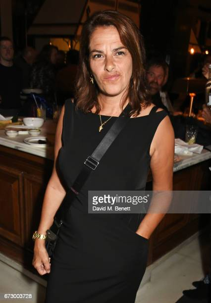 Tracey Emin attends a preopening dinner hosted by Kate Bryan at Zobler's Delicatessen at The Ned London on April 25 2017 in London England