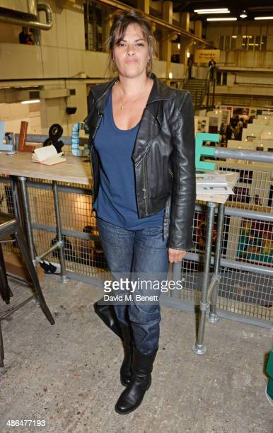 Tracey Emin attends a private view of The Other Art Fair at Ambika P3 University of Westminster on April 24 2014 in London England