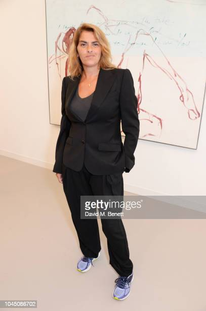 Tracey Emin attends a VIP Preview of the Frieze Art Fair in Regents Park on October 3 2018 in London England