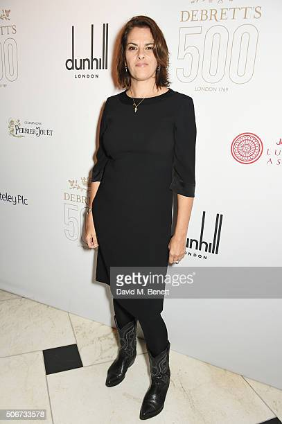 Tracey Emin attends Debrett's 500 party hosted at Rosewood London on January 25 2016 in London England Debrett's 500 recognises the most influential...