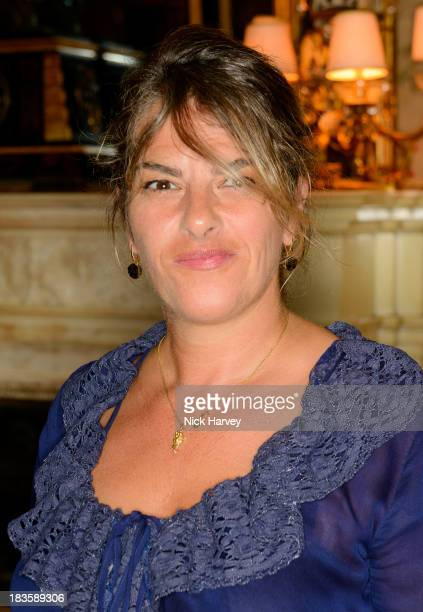 Tracey Emin attends Nicola and James Stephenson Tracey Emin and Johnny Bergius VIP Party at Mark's Club on October 7 2013 in London England