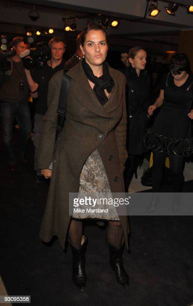 Tracey Emin attends the Anglomania show by Vivienne Westwood at Selfridges on November 16 2009 in London England
