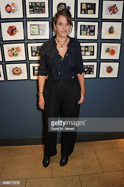 Tracey Emin attends the Fine Wine Auction Dinner hosted by Bill Knott in aid of 'Action Against Hunger' at 1 Lombard Street on November 15 2014 in...