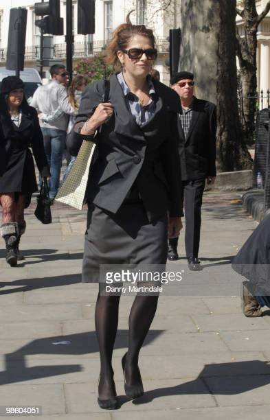 Tracey Emin attends the funeral of Malcolm McLaren on April 22 2010 in north London England The man often called the 'architect of punk' died of...