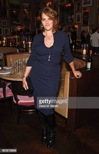 Tracey Emin attends the GQ London Fashion Week Men's 2018 closing dinner hosted by Dylan Jones and Rita Ora at Berners Tavern on January 8 2018 in...