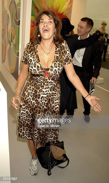 Tracey Emin attends the opening of the Frieze Art Fair at Regent's Park on October 11 2006 in London England
