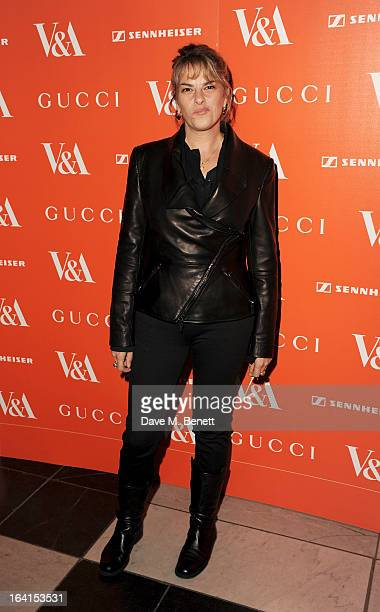 Tracey Emin attends the private view for the 'David Bowie Is' exhibition in partnership with Gucci and Sennheiser at the Victoria and Albert Museum...