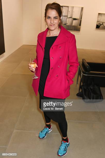 Tracey Emin attends the Private View of 'Centrifugal Soul' by Mat Collishaw at Blain Southern on April 6 2017 in London England