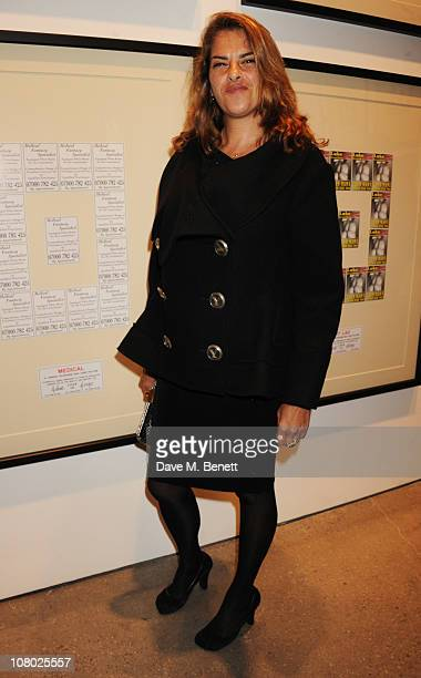 Tracey Emin attends the private view of 'The Urethra Postcard Art of Gilbert George' at the White Cube Gallery on January 13 2011 in London England
