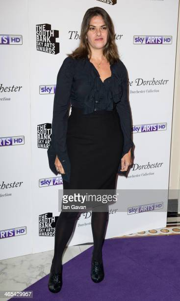 Tracey Emin attends the South Bank Sky Arts awards at Dorchester Hotel on January 27 2014 in London England
