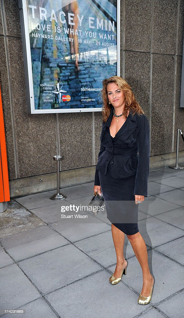 Tracey Emin attends the 'Tracey Emin: Love Is What You Want' Press View at The Hayward Gallery on May 16, 2011 in London, England.