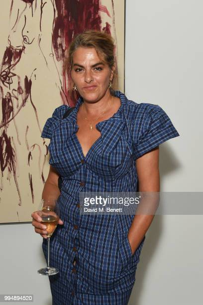 Tracey Emin attends the White Cube summer party in celebration of Memory Palace at White Cube Bermondsey on July 9 2018 in London England