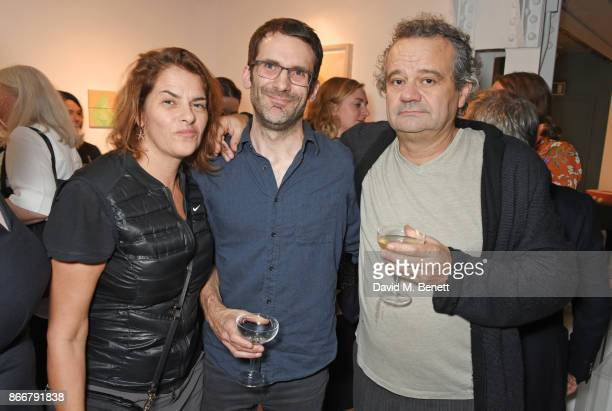 Tracey Emin Hix Award winner Sam Bailey and Mark Hix attend the Hix Award 2017 at Hix Art The Tramshed on October 26 2017 in London England