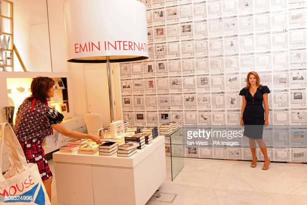 Tracey Emin launches her pop up shop Emin International and signs copies of her book My Life In A Column, at Selfridges in London.