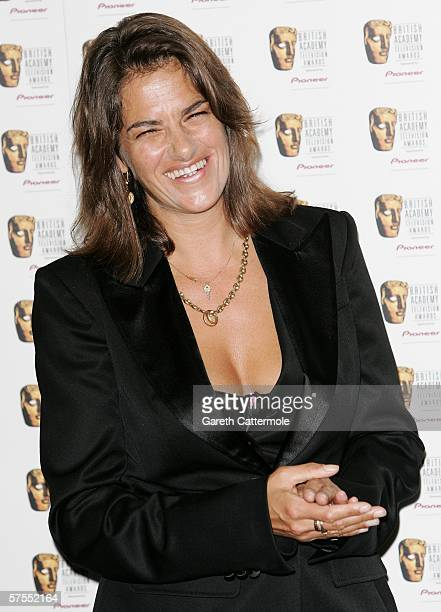 Tracey Emin poses in the Awards Room at the Pioneer British Academy Television Awards 2006 at the Grosvenor House Hotel on May 7 2006 in London...
