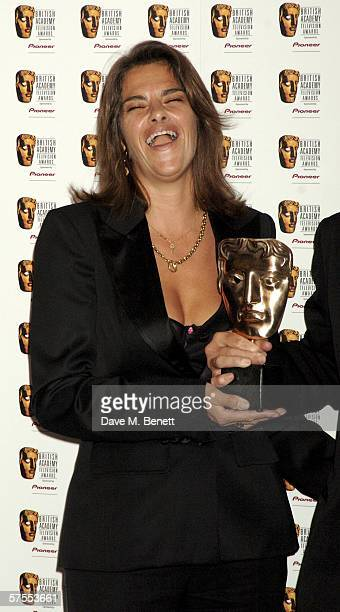 Tracey Emin poses in the Awards Room with the award at the Pioneer British Academy Television Awards 2006 at the Grosvenor House Hotel on May 7 2006...