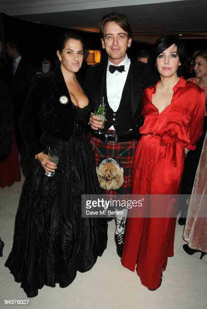 Tracey Emin Scott Douglas and Sharleen Spiteri attend the Grey Goose Character Cocktails Winter Fundraiser Ball in aid of the Elton John AIDS...