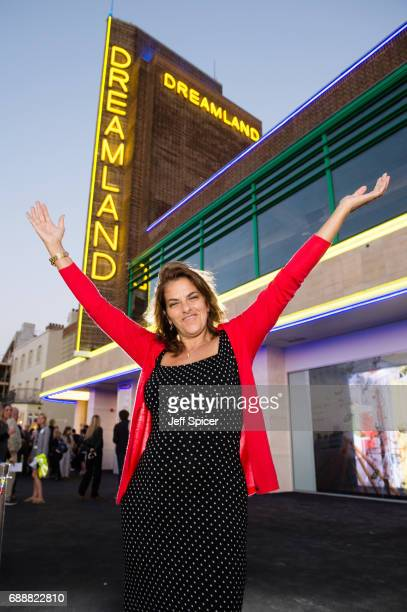 Tracey Emin switches on the neon lights at Dreamland on May 26 2017 in Margate England Thanet District Council brings the glamour back to Margate...