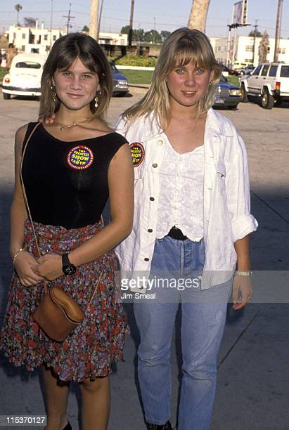 Tracey Gold and Missy Gold during Ringling Brothers Circus July 31 1990 at LA Sports Arena in Los Angeles California United States