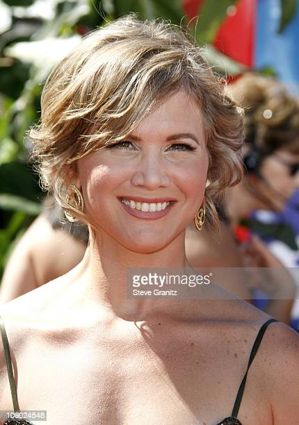 Tracey Gold during 58th Annual Primetime Emmy Awards Arrivals at Shrine Auditorium in Los Angeles California United States
