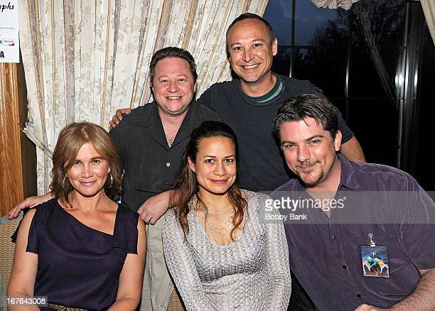 Tracey Gold Scott Schwartz Keith Coogan Joanie Miller and Jeremy Miller attend the 2013 Chiller Theatre Expo at Sheraton Parsippany Hotel on April 26...