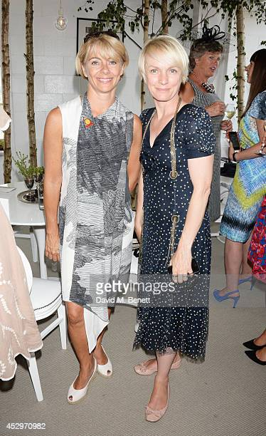 Tracey Greaves Director of Sales Marketing for Goodwood and Lorraine Candy attend the Pioneering Women's Luncheon at Glorious Goodwood Ladies Day at...