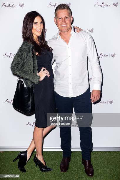 Tracey Jewel and Sean Thomsen attends the SheaMoisture Launch on April 19 2018 in Melbourne Australia