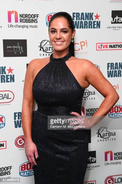 Tracey Leanne Jefford arriving at The Nordoff Robbins Championship Boxing dinner held at London Hilton on November 13 2017 in London England