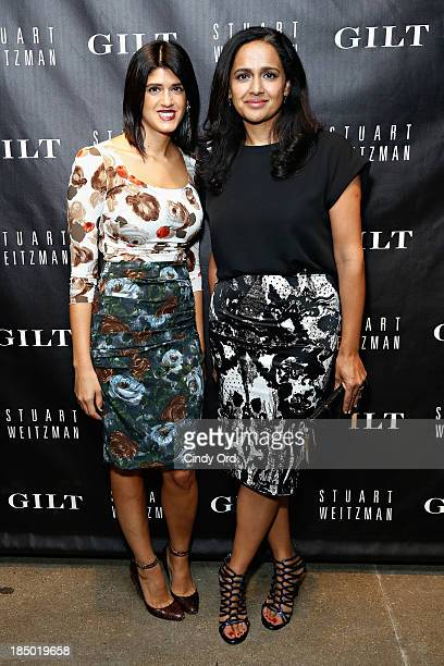 Tracey Lomrantz Lester and Jyoti Rao attend as Gilt And Stuart Weitzman celebrate the 5050 Boot 20th anniversary on October 16 2013 in New York City