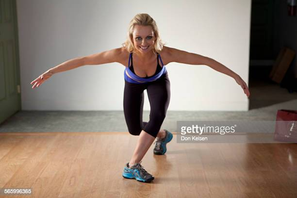 – – Tracey Mallett demonstrates the Curtsy side lift PHOTOGRAPHED TUESDAY FEBRUARY 28 2012
