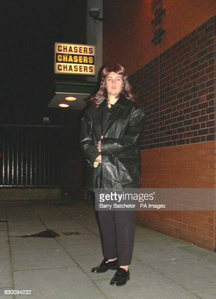 WPC Tracey Ormand playing the part of murdered Jenny King who was strangled a week ago starts her reenactment walk from Chasers nightclub in...
