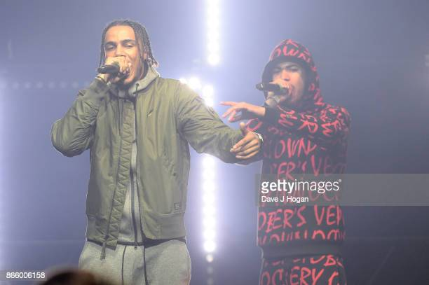 Tracey performs on stage at UK Grime and Hip Hop the KA GRM Daily RATED AWARDS at legendary music venue The Roundhouse on October 24 2017 in London...