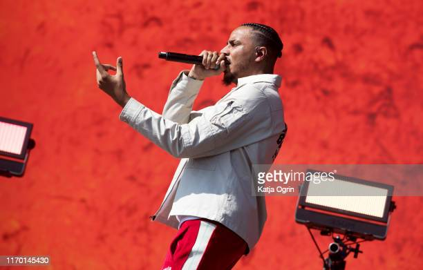 Tracey performs on stage during Leeds Festival 2019 at Bramham Park on August 25, 2019 in Leeds, England.