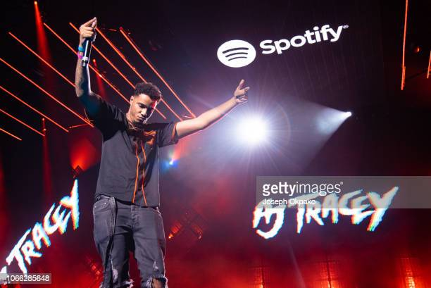 Tracey performs on stage during Spotify Presents Who We Be Live at Alexandra Palace on November 28 2018 in London England