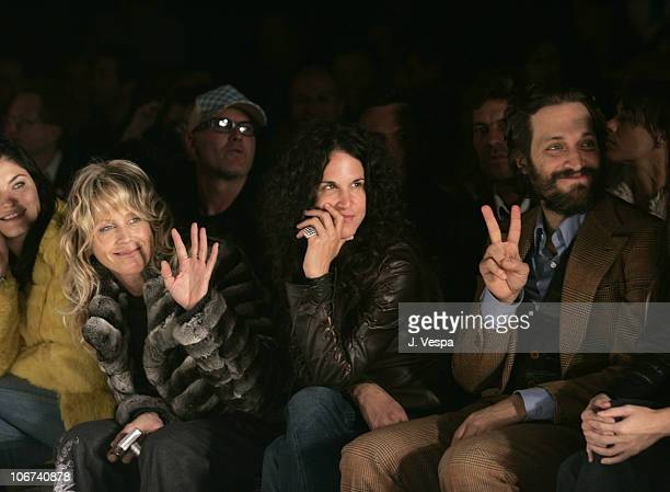 Tracey Ross Amanda Demme and Vincent Gallo during MercedesBenz Spring 2005 Fashion Week at Smashbox Studios Jenni Kayne Backstage and Front Row at...