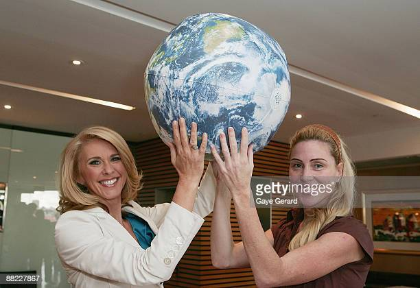 Tracey Spicer and Susie Maroney attend the Landcare Australia World Environment Day launch luncheon at Quayside Brassiere on June 5 2009 in Sydney...