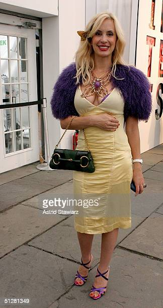 Tracey Stern poses for a picture during the Olympus Fashion Week Spring 2005 at Bryant Park September 9, 2004 in New York City.
