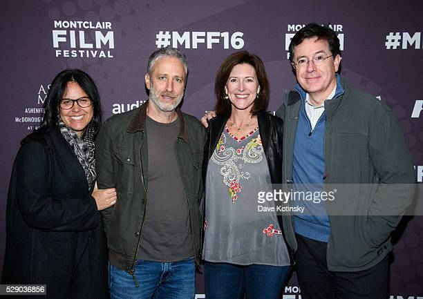 Tracey Stewart Jon Stewart Stephen Colbert and Evie Colbert attend the Montclair Film Festival 2016 on May 7 2016 in Montclair City