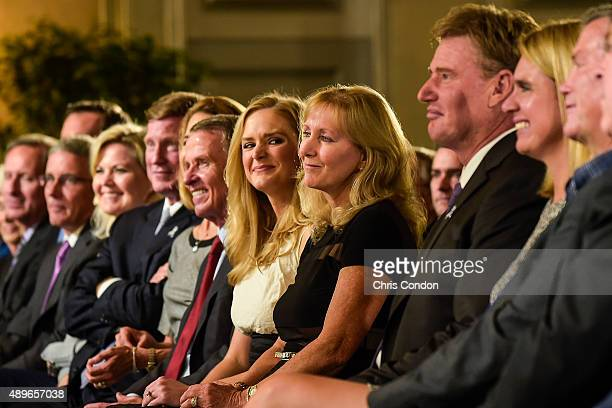 Tracey Stewart, wife of the late golfer Payne Stewart, and their daughter Chelsea attend the Payne Stewart Award ceremony for Ernie Els, held...