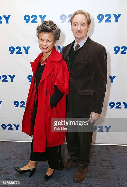 Tracey Ullman and Kevin Kline visit at 92nd Street Y on October 23 2016 in New York City