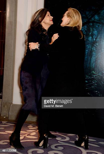 Tracey Ullman and Meryl Streep attend a photocall for Into The Woods at Corinthia Hotel London on January 7 2015 in London England